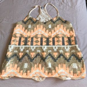 Twice Worn Sheer Back Sequence Top